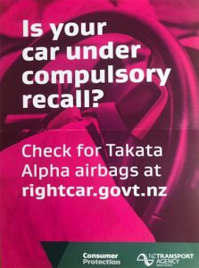 Takata Alpha Airbag Recall
